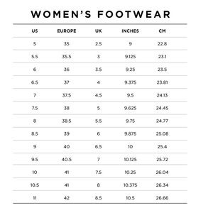 Other - Footwear Size Chart